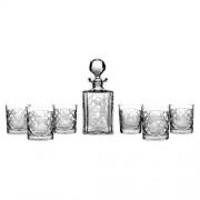 Crystal Julia Karafka 6 sztuk szklanki grawer myśliwski do whisky (2587)