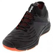 Wilson Footwear Wilson Calzado de Tenis para Mujer, Negro, Blanco, Coral (Black/White/Fiery Coral), 5.5 US