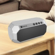 NEWRIXING NR-4000 Bluetooth Heavy Subwoofer Speaker Support FM/Aux/TF Card - Silver