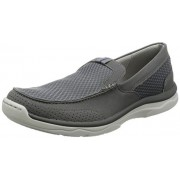 Clarks Men's Marus Step Grey Leather Casual Loafers & Moccasins - 7 UK/India (41 EU)