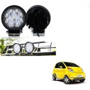Auto Addict DEVICE 4 inch 9 LED 27Watt Round Fog Light with Flood Beam Auxiliary Lamp Set Of 2 Pcs For Tata Nano