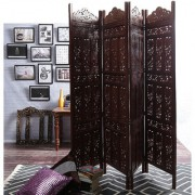 Shilpi Mango Wood Partition Screen Room Divider NSHC0291