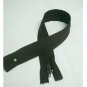 RTOműanyag zárt végű cipzár sötétbarna 28cm/015/Cikksz:150104