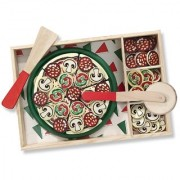 Wishkey Wooden Pizza Party Velcro Cutting Kitchen PlaySet
