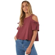 Swell Patsy Cold Shoulder Top Rose Rose