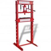 vidaXL Presse d'atelier 20 tonnes Rouge