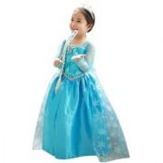 VPT Costume Polyester Elsa Frozen Fancy Dress For Kids