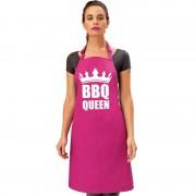 Bellatio Decorations BBQ Queen barbecueschort/ keukenschort roze dames