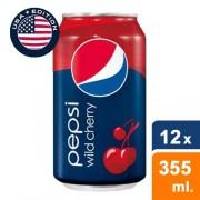 Pepsi Wild Cherry (USA Cans) - 12 x 355ml