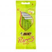 Bic Pure 3 Lady Disposable Razors 4 st Rakhyvlar