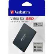 SSD (belső memória), 256GB, SATA 3, 460/560MB/s, VERBATIM Vi550 (SVM256GV)