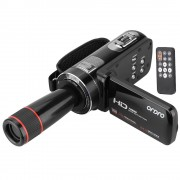 ORDRO HDV-Z8 1080 P Full HD Digitale Video Camera Camcorder 16x Digitale Zoom Digitale Rotatie LCD Touch w/12x Telelens