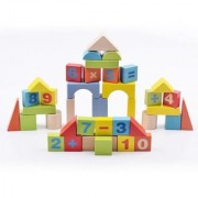 Emob 38 Pcs Wooden Digital Blocks with Attractive Colour Puzzle Learning Game For Kids (Multicolor)
