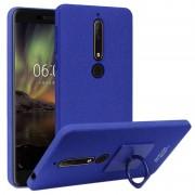 Capa com Protector de Ecrã e Anel Imak Cowboy para Nokia 6.1 - Azul
