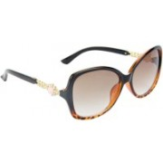 Redleaf Over-sized Sunglasses(Brown, Clear)