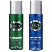 Brut Original and Ocean Deodorant Spray Pack of 2 Combo 200ML each 400ML