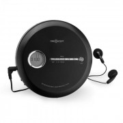 OneConcept CDC 100 MP3 Discman CD-Player CD-R/-RW/-MP3 tragbar Antishock ESP Micro-USB schwarz