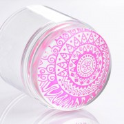 Dual XL Clear Jelly Nail Art Stamper Siliconen Hoofd met Strass Cap & 2 Schrapers Manicure Nail Art Tool Born Pretty