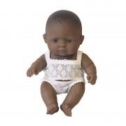 Papusa bebelus baiat latinoamerican 21 cm