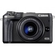 Systeemcamera Canon EOS M6 Incl. EF-M 15-45 mm IS STM 24.2 Mpix Zwart WiFi, Bluetooth, Full-HD video-opname