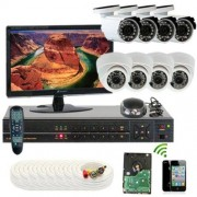 GW Security Inc 8CHP2 8 Channel H.264 960H & D1 Realtime DVR with 4 x 650 TVL and 4 x 600 TVL with Microphone Security Camera System Free LED (White/Black)