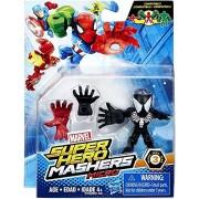Marvel Avengers Super Hero Mashers Micro Series 3 Action Figure - Black Spider-Man