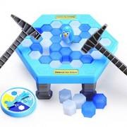 Mini Puzzle table games penguin ice pounding penguin ice cubes save penguin knock ice block wall toys desktop paternity interactive game