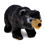 Puzzled Standing Wild Black Bear Super - Soft Stuffed Plush Cuddly Animal Toy / Animals Theme 11 Inch (5336)