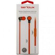 Casti cu microfon Serioux HDPHRED In-ear Buton on/off Rosu