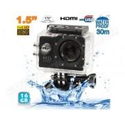 YONIS Caméra sport étanche 30m caméra d'action Full HD 1080p 12MP Noir 16Go