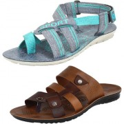 Armado Men's -Multicolour Combo Pack of 2 Sandals