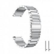 Curea metalica compatibila Sony Smartwatch 2 SW2 telescoape QR Silver