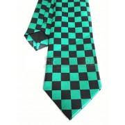 Krawat czarno - zielony - SZACHOWNICA