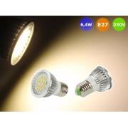 NTR LAMP28WW 6,4W SMD5630 LED lámpa E27 3000K meleg-fehér 550lm 230V