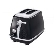De'Longhi Icona CTO2003BK - Grille-pain -électrique - 2 tranche - noir onyx