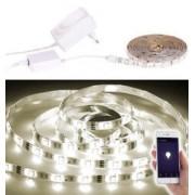 Luminea Home Control Bande LED LAM-515 - 5 m blanc chaud - Avec accessoires