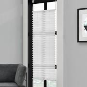 Klemmfix Plissee - 85 x 100 cm - bílá - ochrana proti slunci a světlu - neprůhledné - bez otvorů