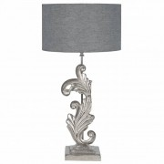 Pacific Nickel Scroll Sculptural Table Lamp