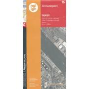 Topografische kaart - Wandelkaart 15 Topo50 Antwerpen | NGI