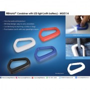 E114 - CARABINER WITH LED LIGHT (WITH BATTERY)