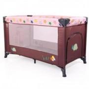Бебешка кошара за спане и игра Cangaroo Safari, розова, 3563363