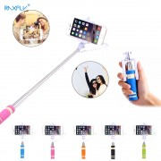 RAXFLY MINI Extendable Selfie Stick Handheld Self Portrait Photo Palo selfie Wired Self Stick Monopod for iPhone 6 Android Phone