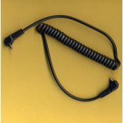 Coiled Sync lead for Vivitar 283 285 Male PC to Vivitar jack cable