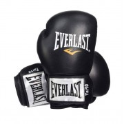 Everlast Leather Boxing Glove Fighter - Noir/Rouge - 12oz