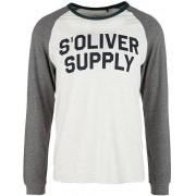 s.Oliver Pánské triko s dlouhým rukávem 13.910.31.7209.0605 Marble XXXL