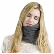 Trtl Pillow - Scientifically Proven Super Soft Neck Support Travel Pillow – Machine Washable Grey.