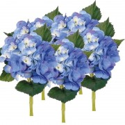 Bellatio flowers & plants 5x Blauwe kunstbloem Hortensia 48 cm