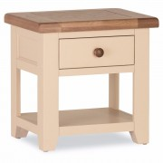 Jenison Oak 1 Drawer Lamp Table – Assembled