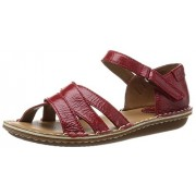 Clarks Women's Red Leather Fashion Sandals - 4.5 UK/India (37.5 EU)