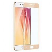 BM oppo f1s gold colour tempered glass